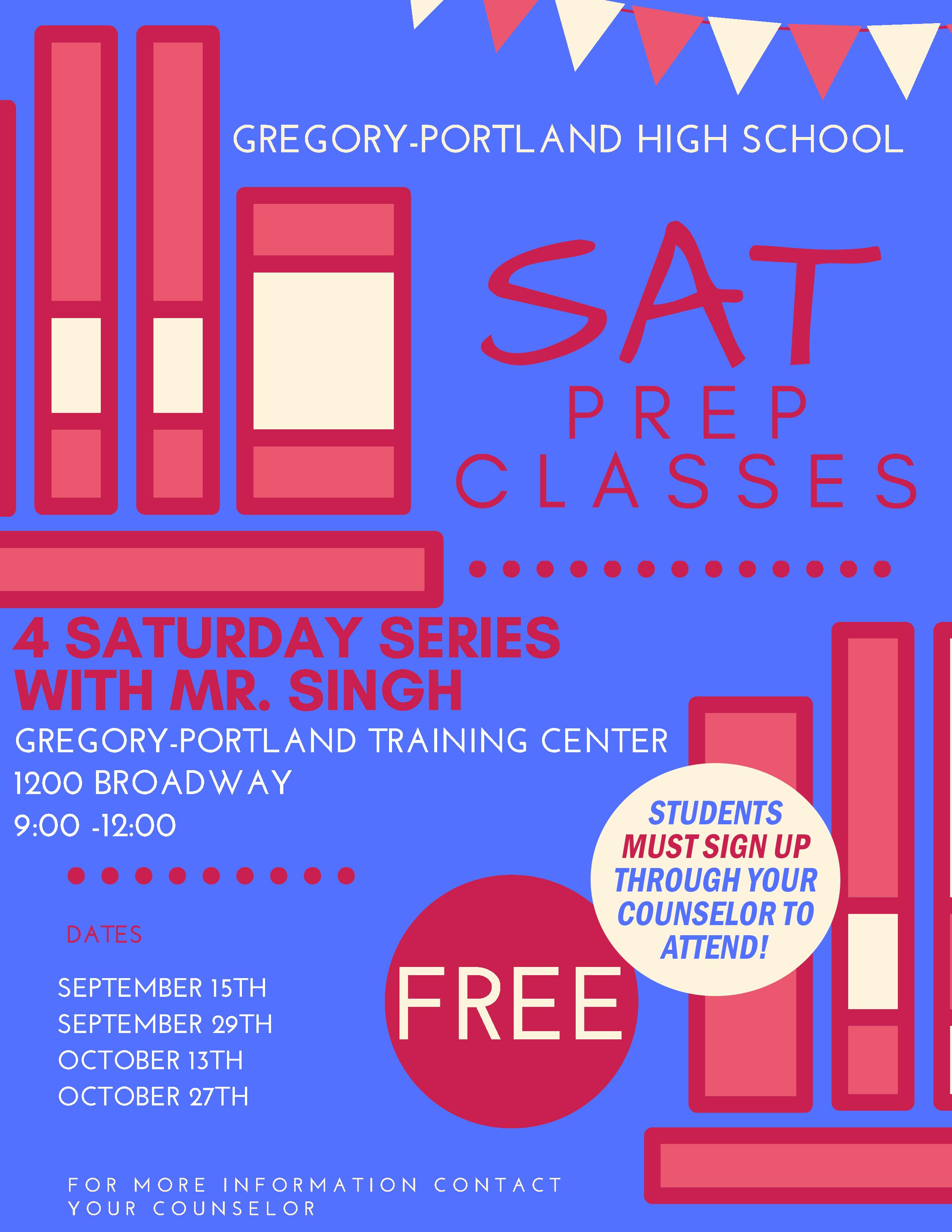 SAT Prep Classes - Gregory-Portland Independent School District